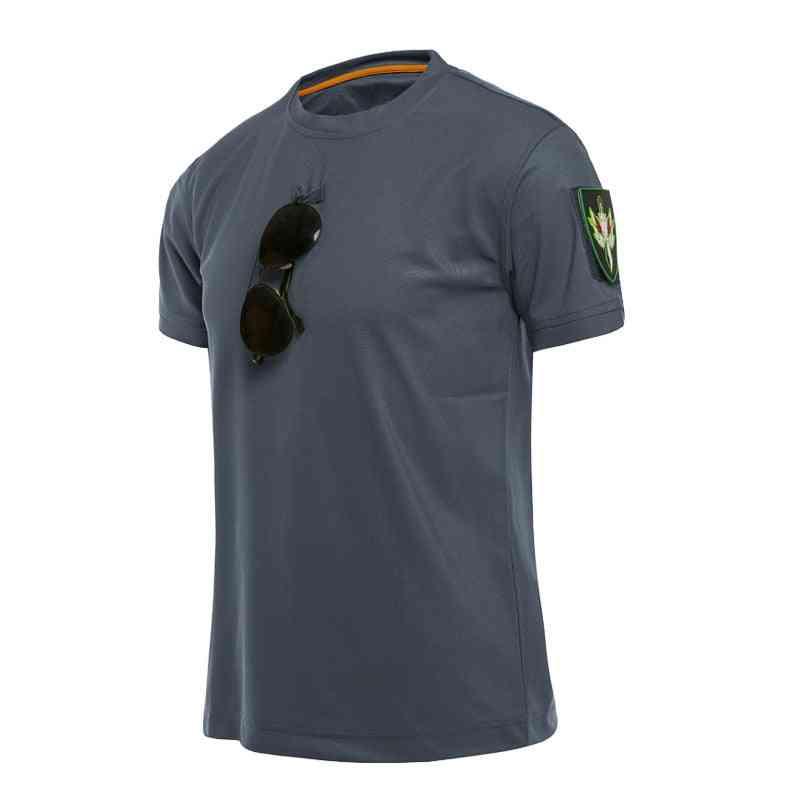 Outdoor Sport Men Tactical T-shirts, Military Hiking Tee Shirt