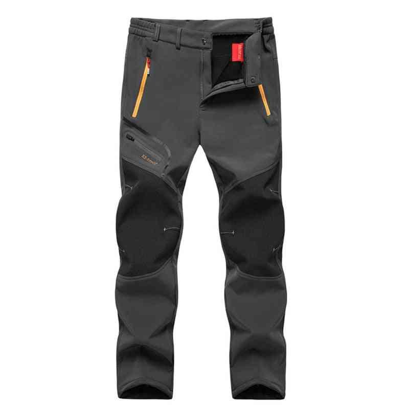 Men Oversized Fleece Outdoor Pants-camping & Hiking Trousers