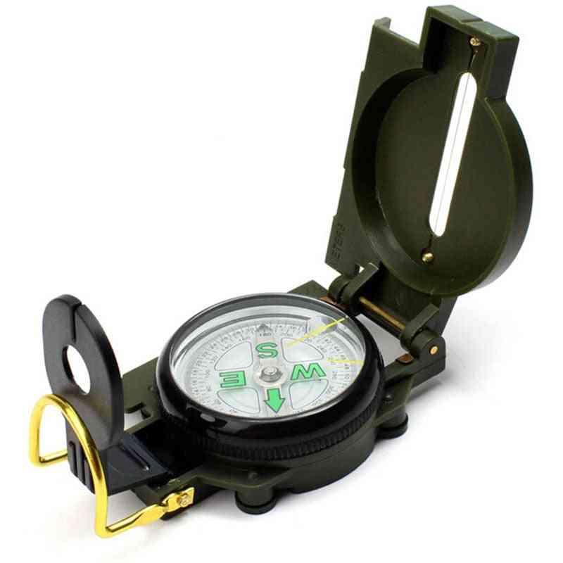 Portable Army Green Folding Lens Compass
