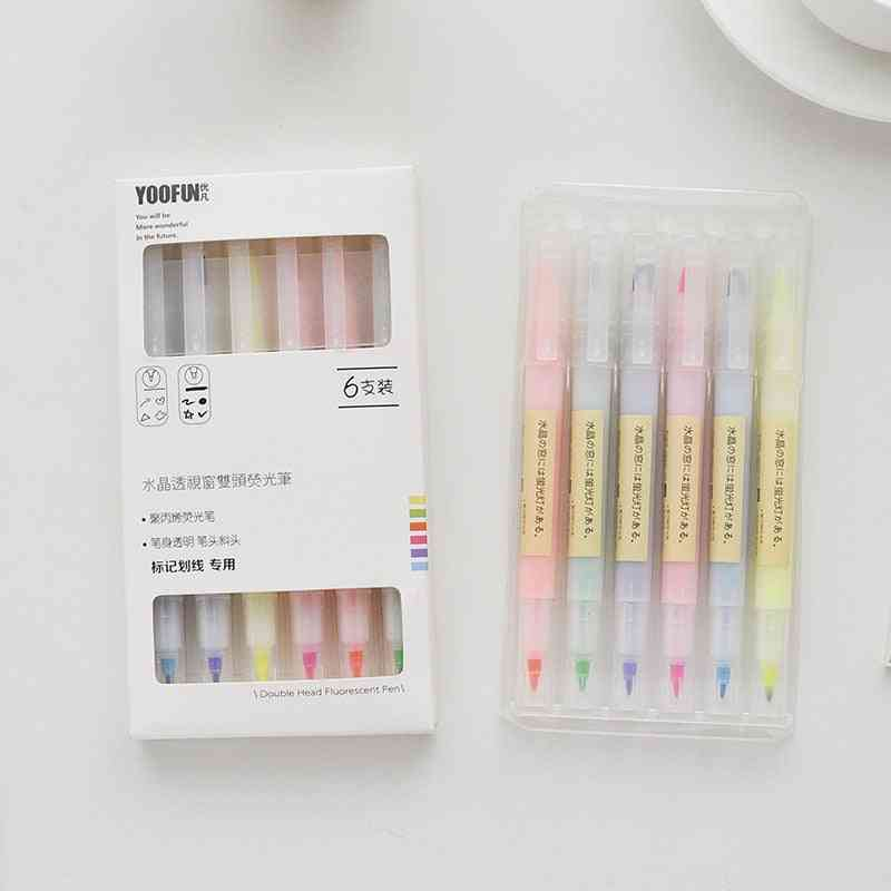 Double-head Highlighters And Drawing Pens