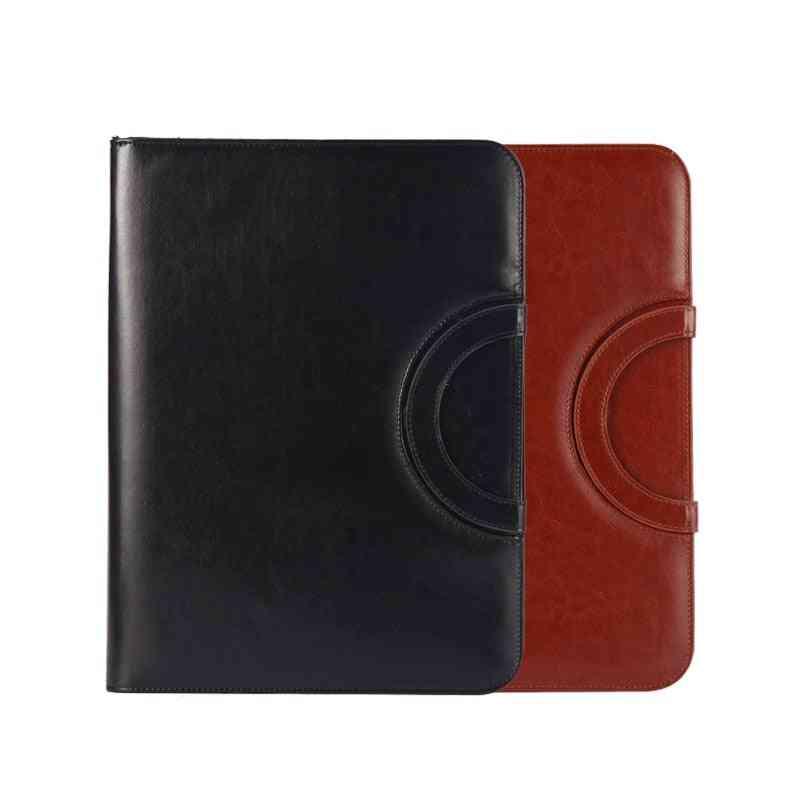 A4 Size Leather Binder, Portfolio Document, Business Folder