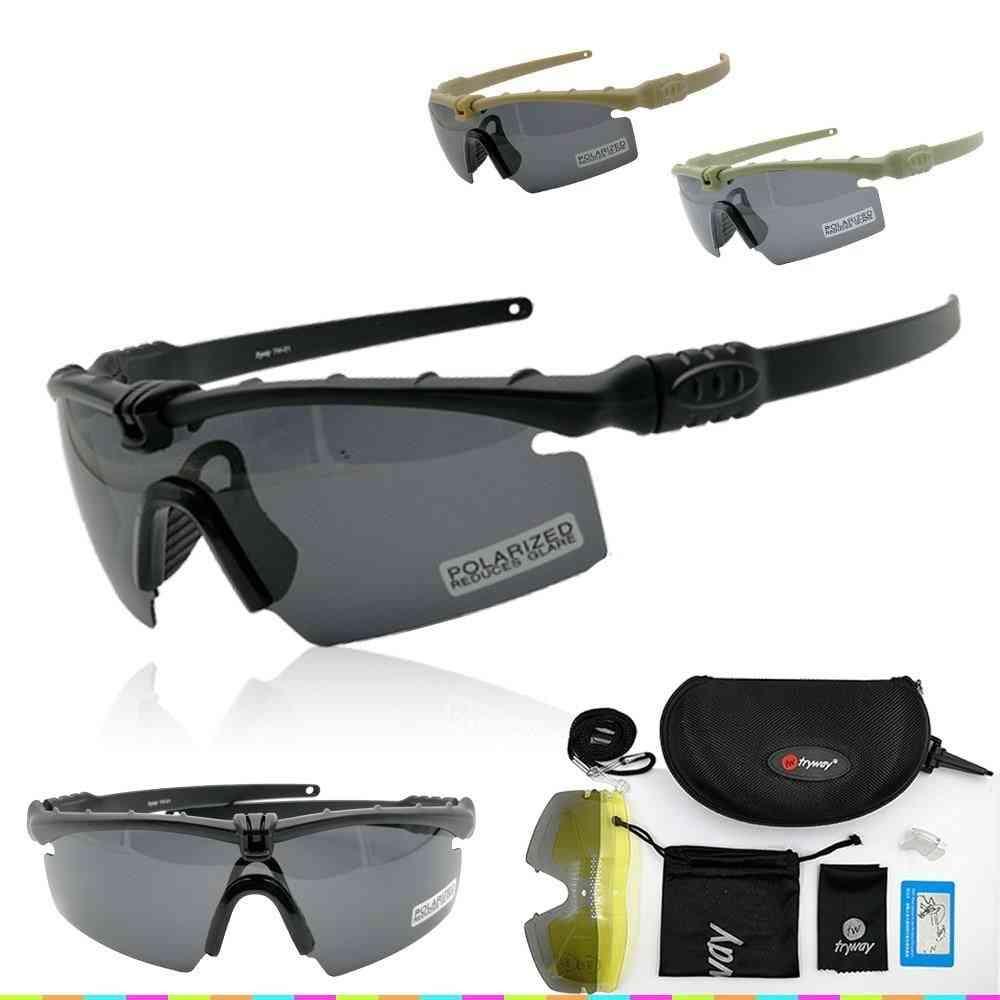 Outdoor Photochromic Sunglasses - Tactical Military Ballistic Polarized Goggles