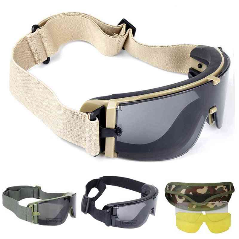 Military Airsoft Tactical Glasses Army Paintball Goggles