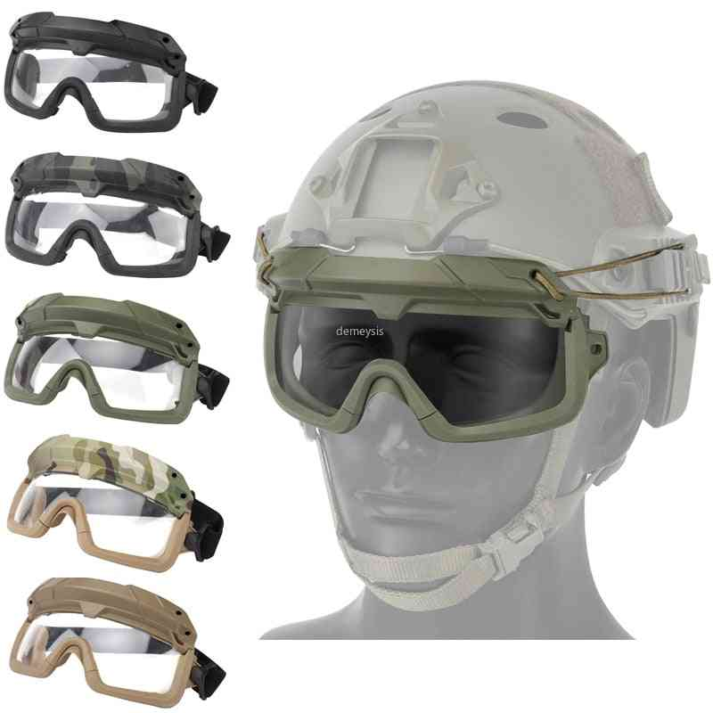 Tactical Paintball Windproof, Anti Fog Cs Wargame Protection Goggles
