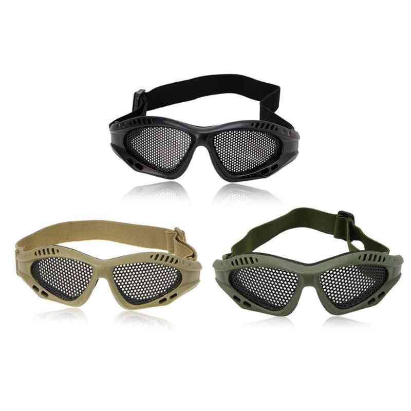 Outdoor Eye Protective, Comfortable Airsoft Safety Tactical Glasses ,with Metal Mesh