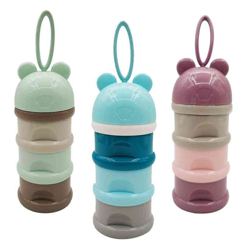 3 Layer Frog Style, Portable Baby Food Storage Box