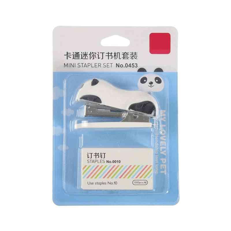Mini Panda Cartoon Stapler