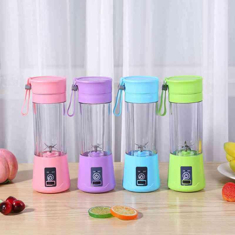 6 Blades Portable Mini Usb Electric Fruit Juicer/blender