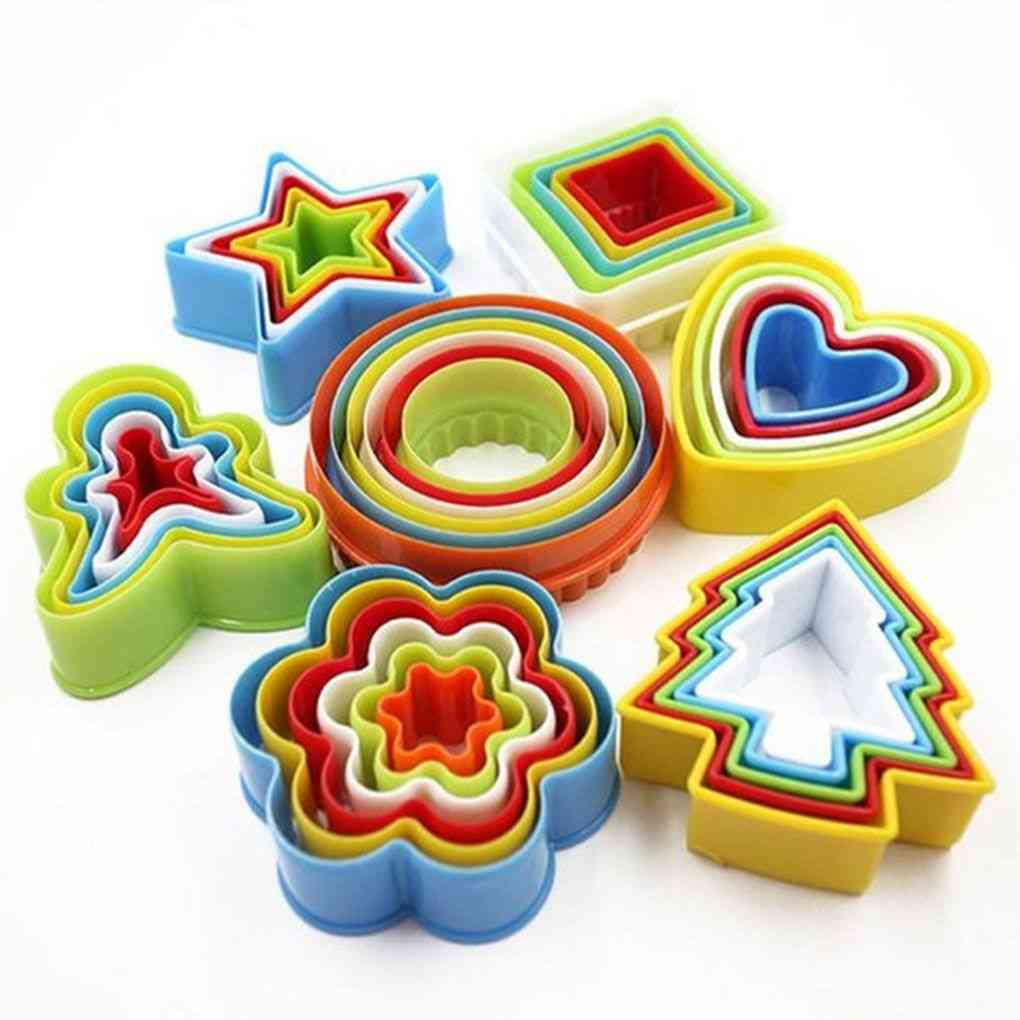 Colorful Multi-shape Plastic Mold, Cookie Biscuit Cutter Tools