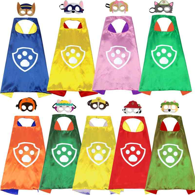 Paw Patrol Set-mask And Cape -cosplay Costume