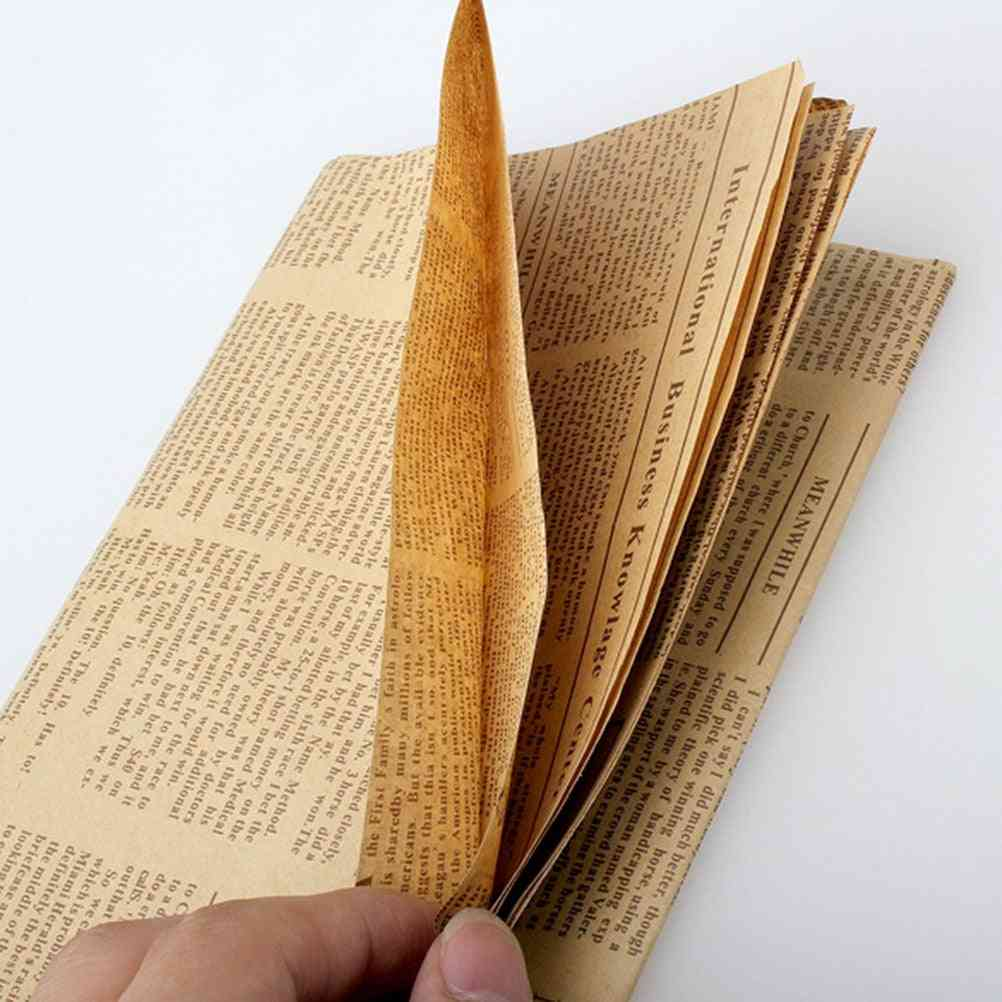 Vintage Newspaper Style Wrapping Paper
