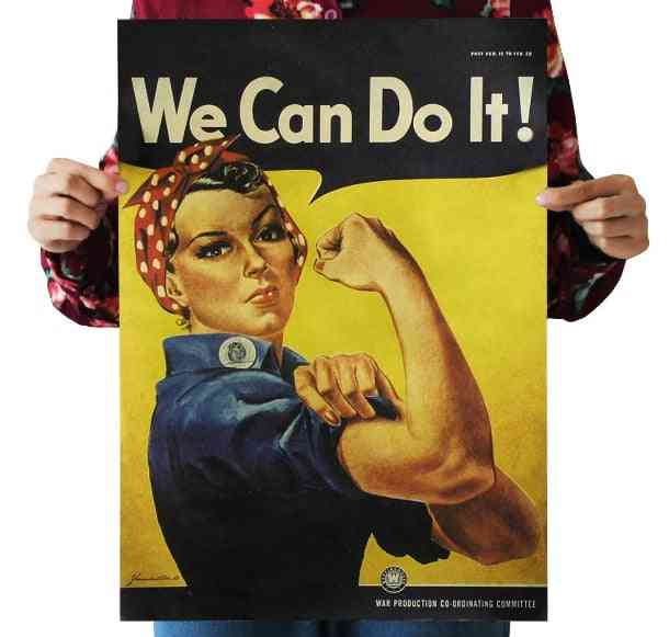 We-can-do-it Vintage Kraft Paper-poster For Home Decoration