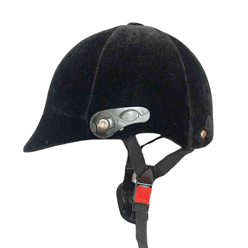 Half-covered Horse Riding Helmet Adjustable For Safety Equipment