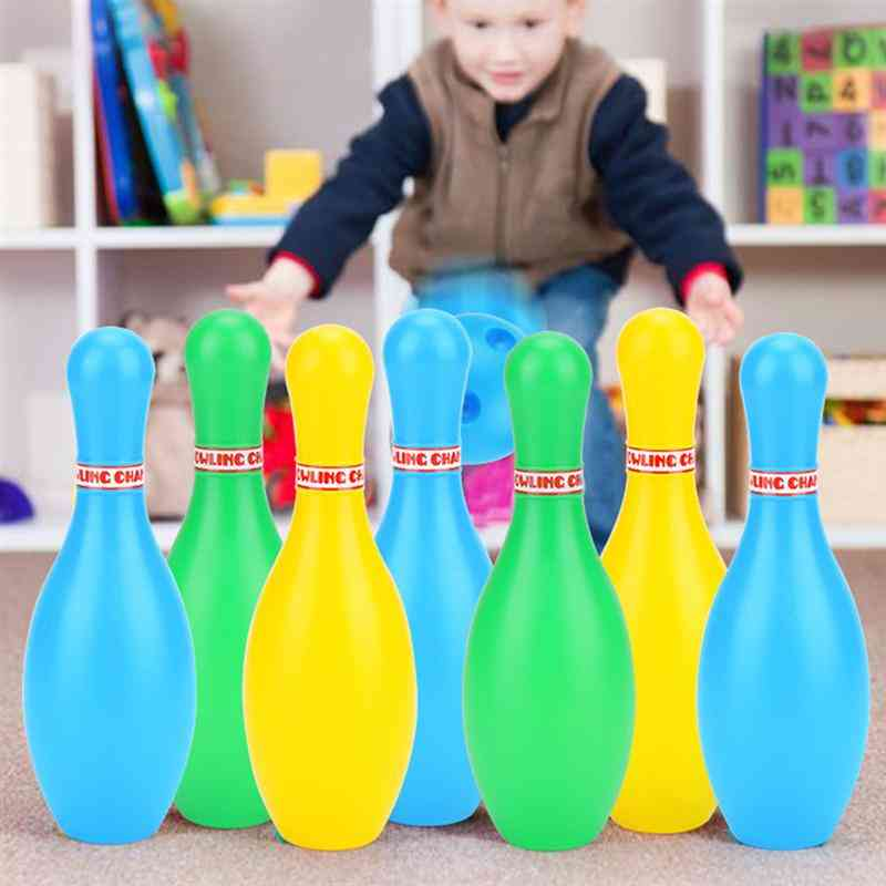 Bowling Set, Sports Educational Pins Plastic