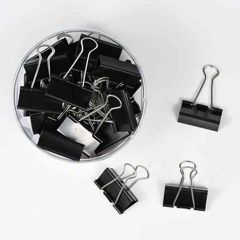 Metal Binder Clips For Home/office/books/ File Paper/food Strong Clamping