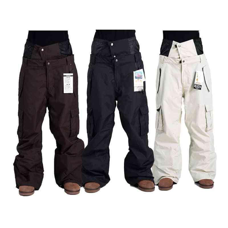 Men Winter Profession Snowboard, Waterproof Windproof Snow Trousers Pants