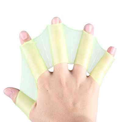 Unisex Frog Type Silicone Girdles, Swimming Hand Fins Flippers Palm Finger Webbed Gloves