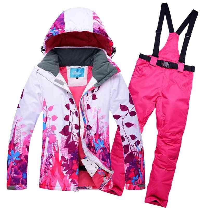 Warm Windproof Waterproof Snowboard Wear, Jacket+pants Clothing Set