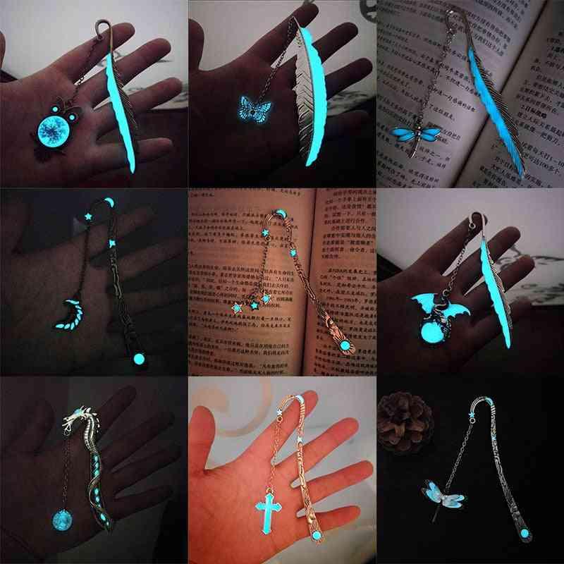 Retro Metal Luminous Bookmarks