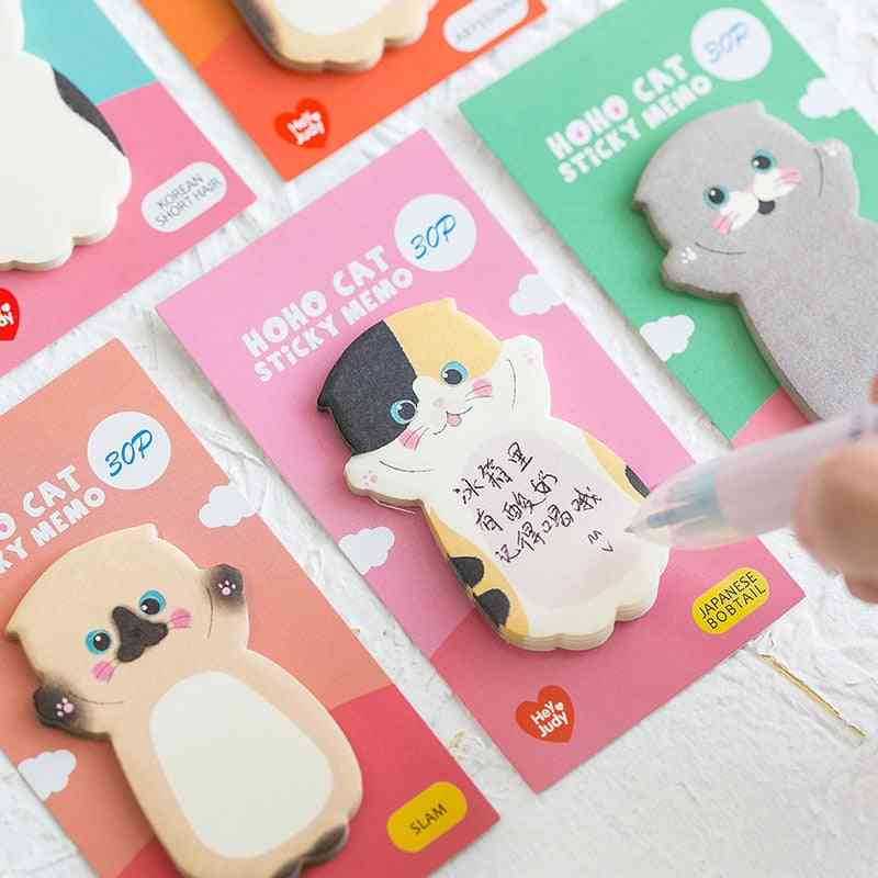 Cute Cat Series Sticky Note Student Message Sticker - Memo Pad