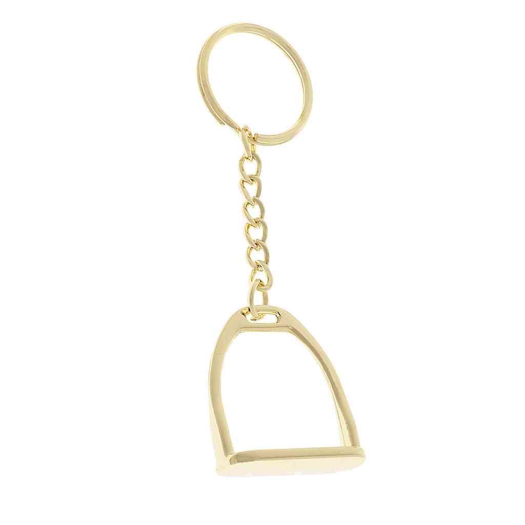 Horse Pony Stirrup Keyring Keychain, Hanging Ornament