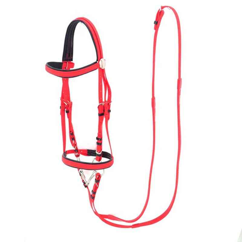 Horse Equestrian Fork Pvc Water Reins Stainless Steel