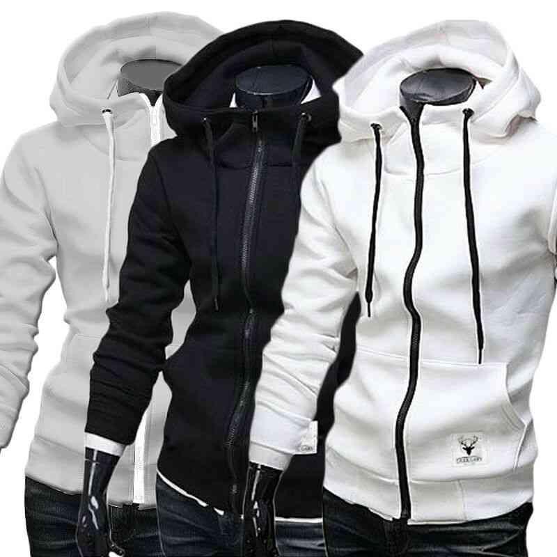 Men's Winter Slim Hoodie Sweatshirt-outwear Jackets
