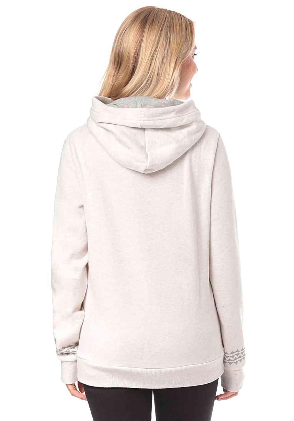 Hooded Fleece With Cross Over Collar, Extra Warmth Sweatshirt