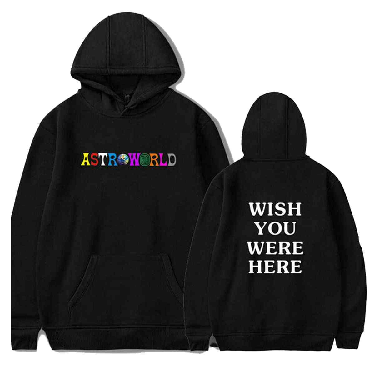 'wish You Were Here' Letter Printed-sports Sweatshirts For Couple