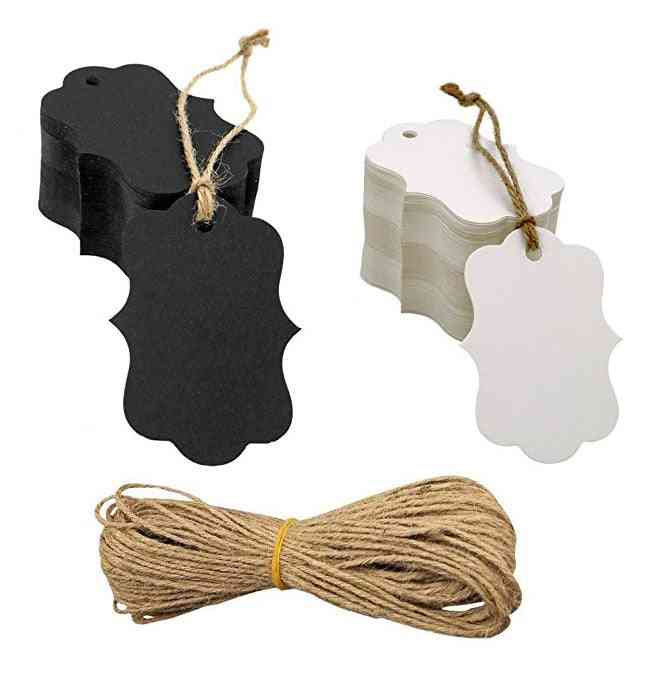 Blank Craft Paper Tags With Hole