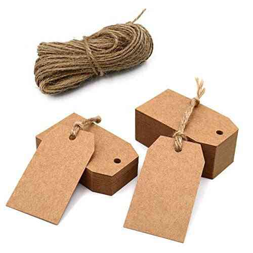 Kraft Paper Tags With Hole For Wedding Or Party Labels