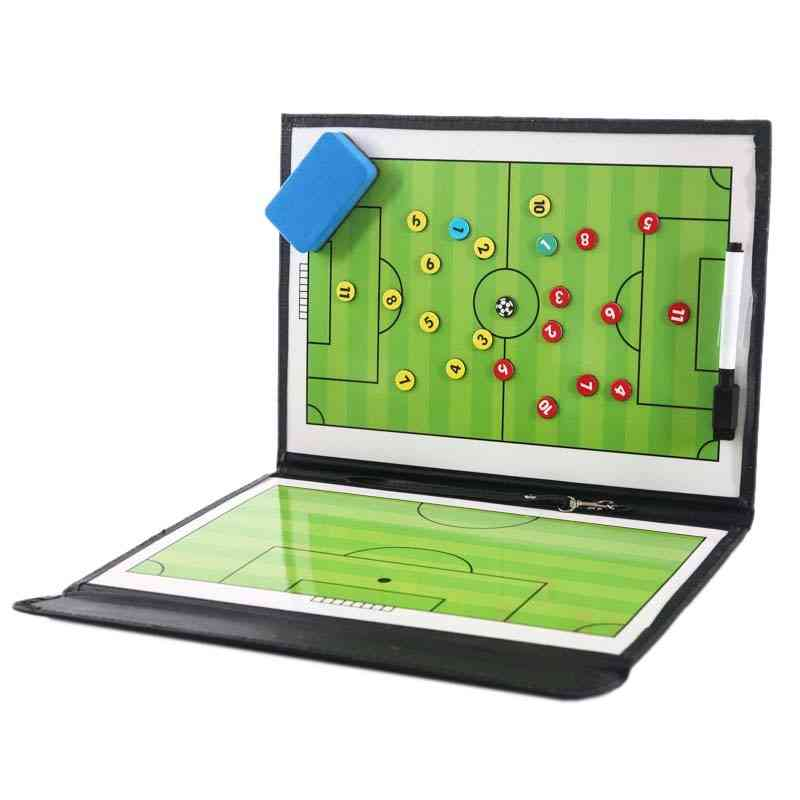 Portable Trainning Assisitant Equipments Football Soccer, Tactical Board Leather Useful Teaching