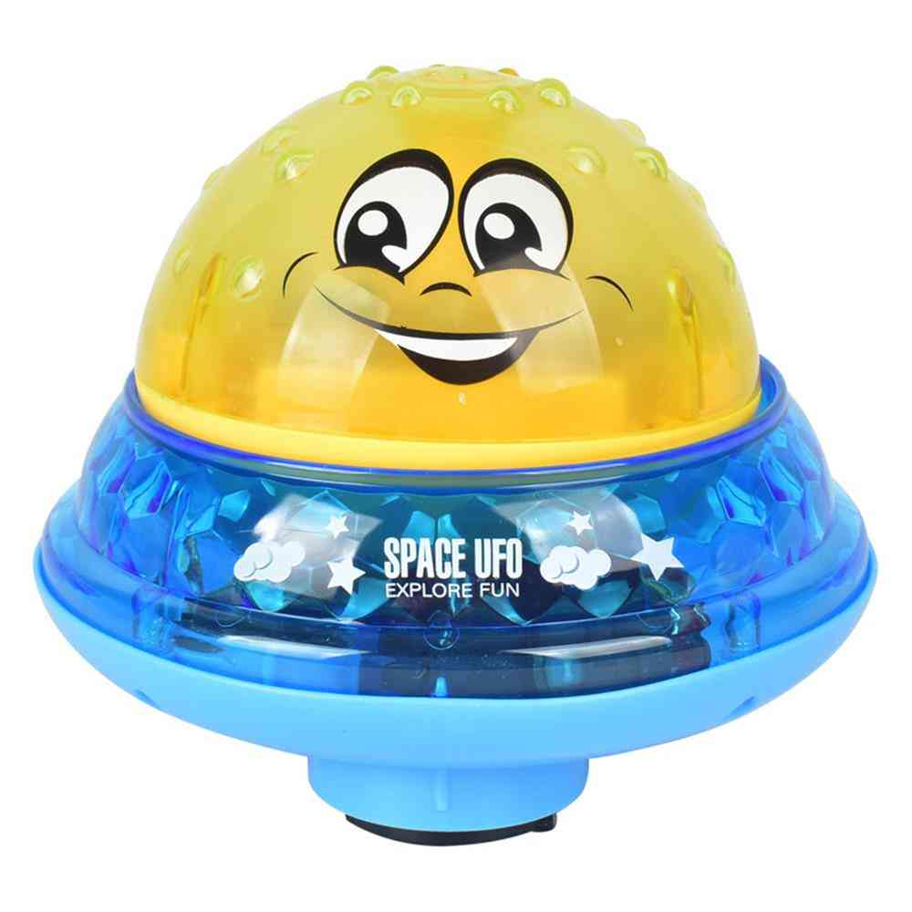 Fountain Summer Sprinkler Musical Ball- Water Squirting Baby Bath Bubble Automatic Induction With Led Light