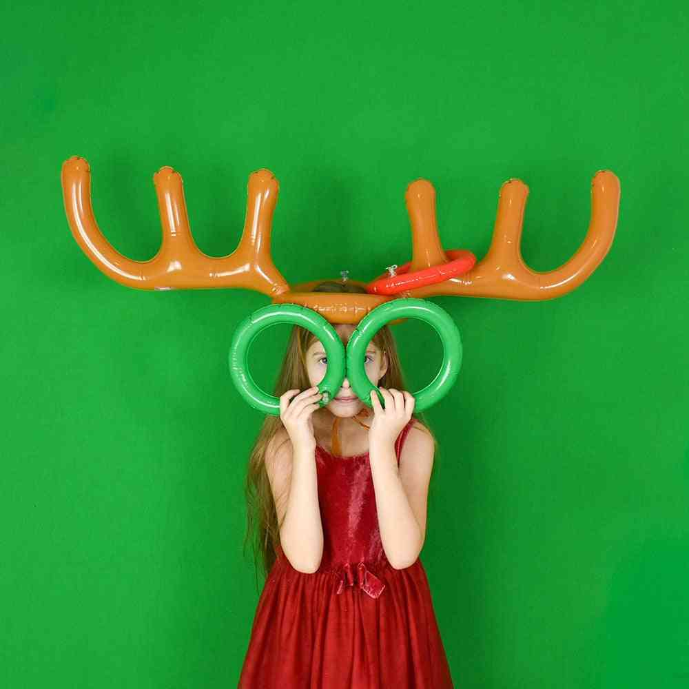 Pvc Inflatable Antlers Shape Toy- Hat & Ring Toss