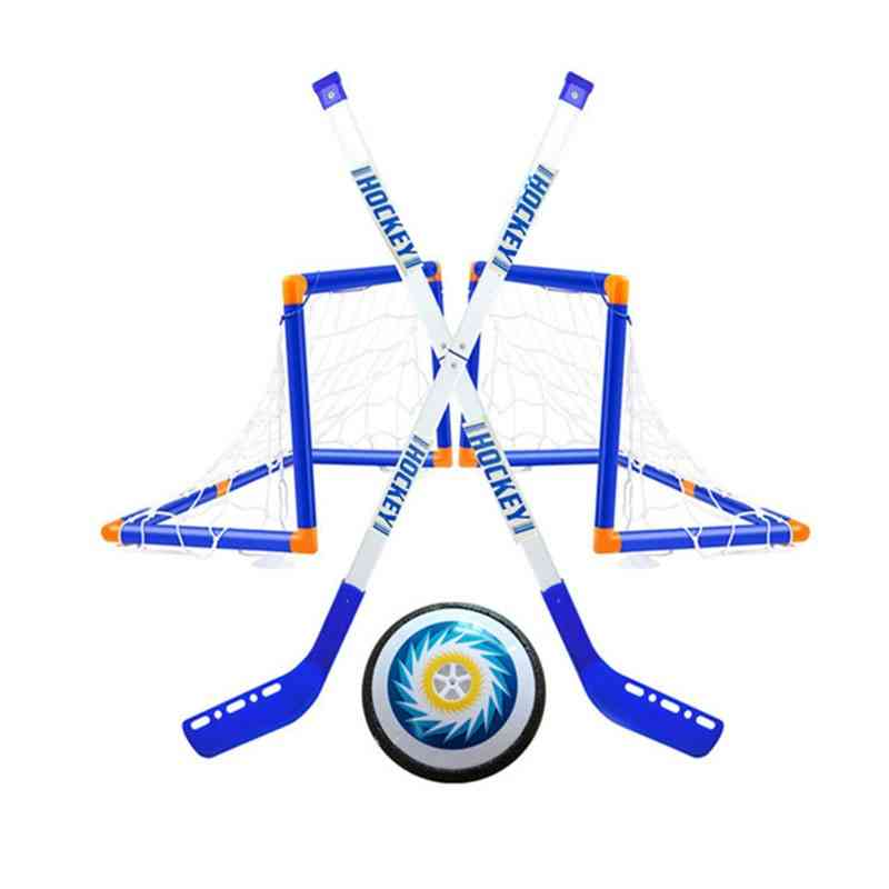 Mini Ice Hockey Sports Sticks, Goals With Balls Toy For