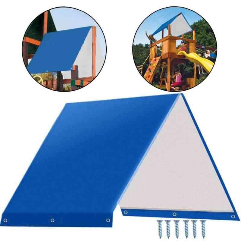 Swing Hammock Kit Replacement Tarpaulin-'s Playground Roof Canopy, Outdoor Sun Protection Rain Cover Waterprof