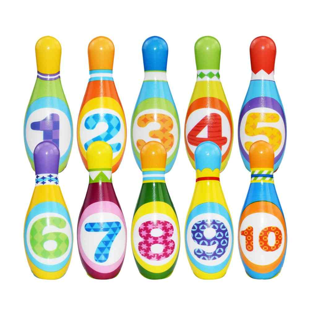 Children Pu Solid Bowling Play Set Sports Game