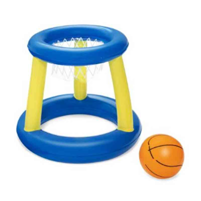 Inflatable Floating Basketball Hoop Ring Toss Game, Swimming Pool Toy