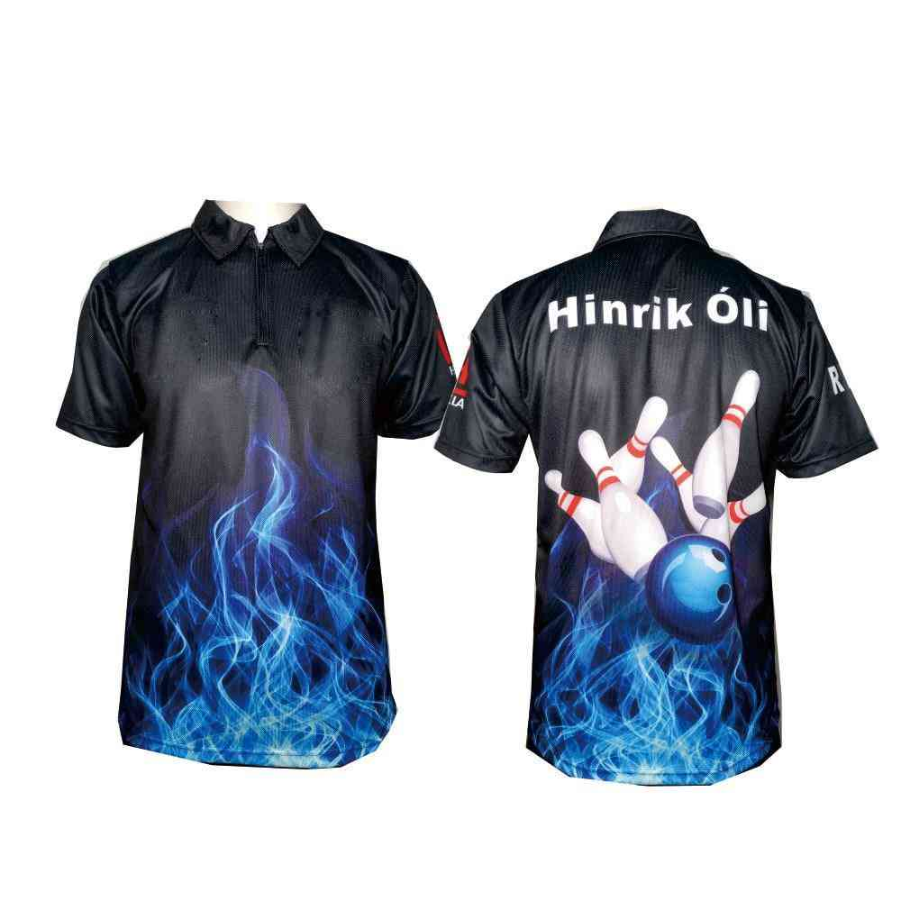 3 Button-ups Bowling Team Shirts