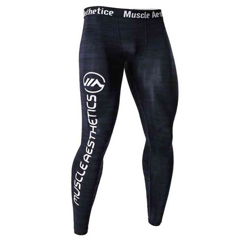 Men Leggings Compression Running Tights, Male Fitness Pants For Yoga