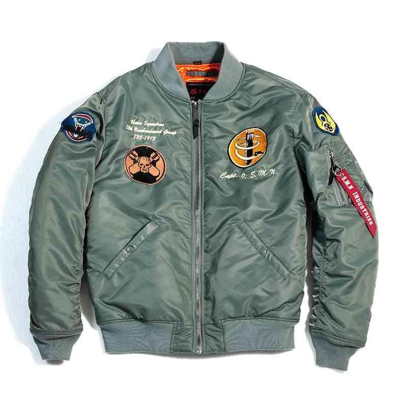Autumn Men Bomber Pilot Jacket, Jean Sportswear Thin Coat