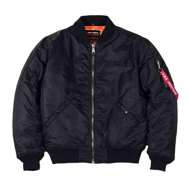 Men's Black  Bomer Air Force Pilot Jacket - Outwear Clothes