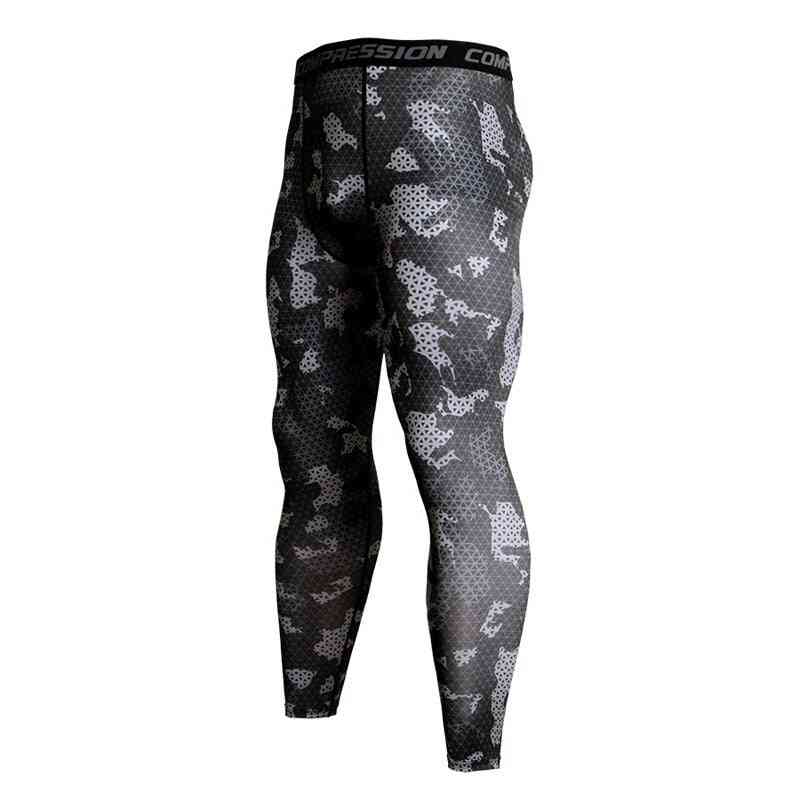 Men's Fitness Running Tights, Camouflage Tracksuit Compression Pants