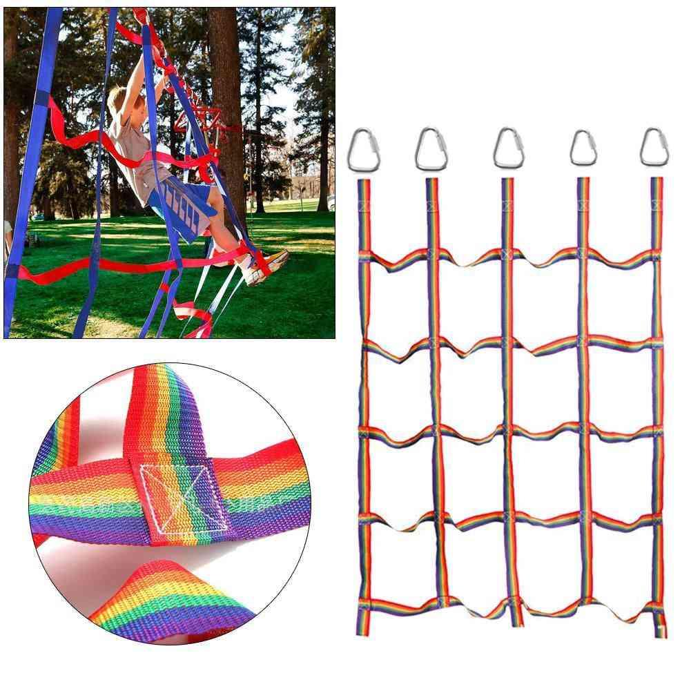 Nylon Climbing Net With Triangle Hooks Physical Training