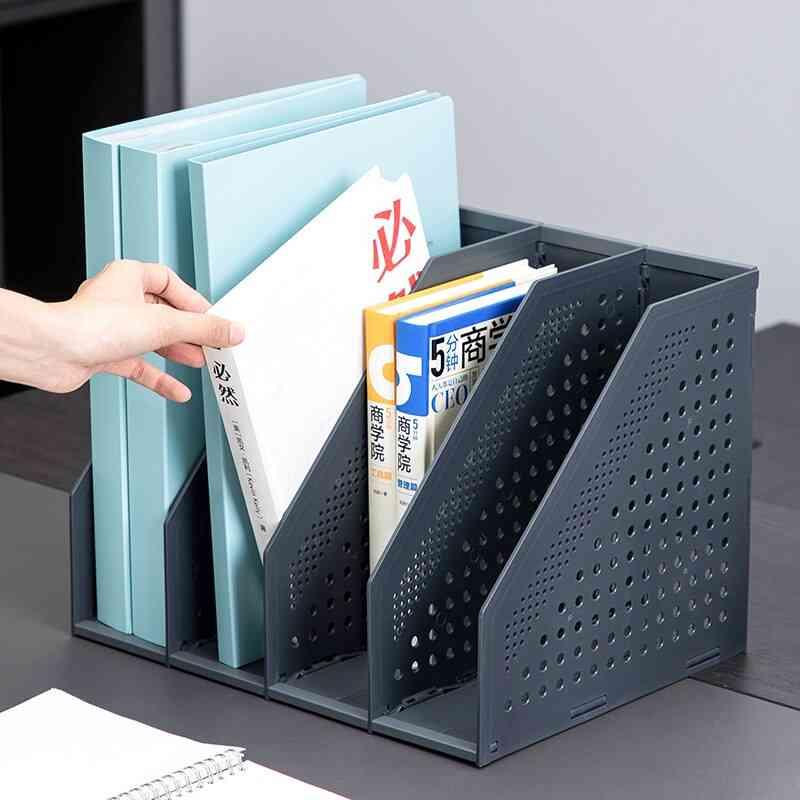 Desktop Folding File Shelf Book Stand Box