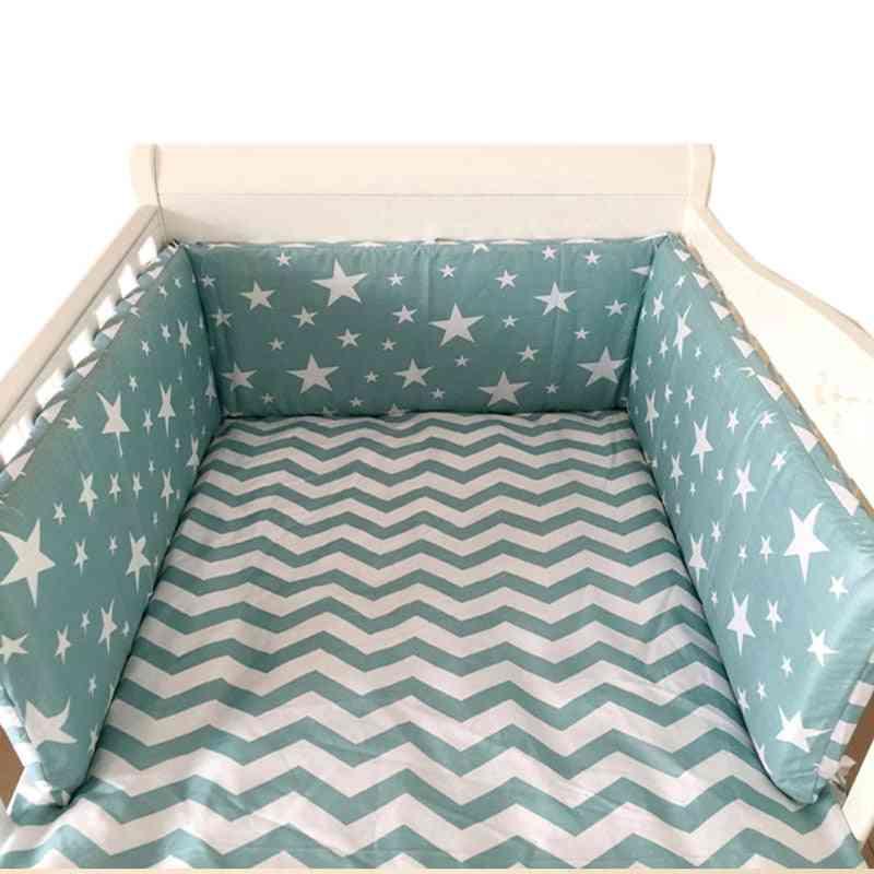 Nordic Stars Design Baby Bed Thicken Bumpers, Crib Around Cushion