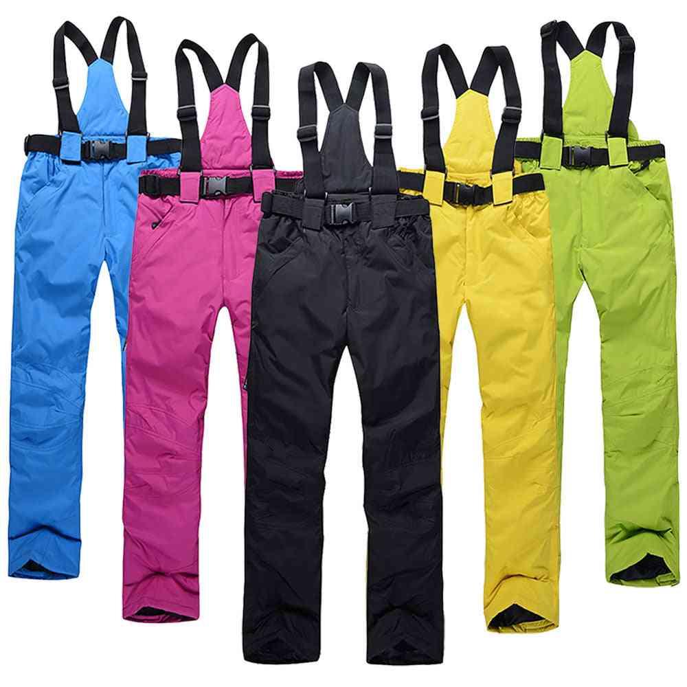 Women Ski Pants, Outdoor Sports Suspenders Trousers Men