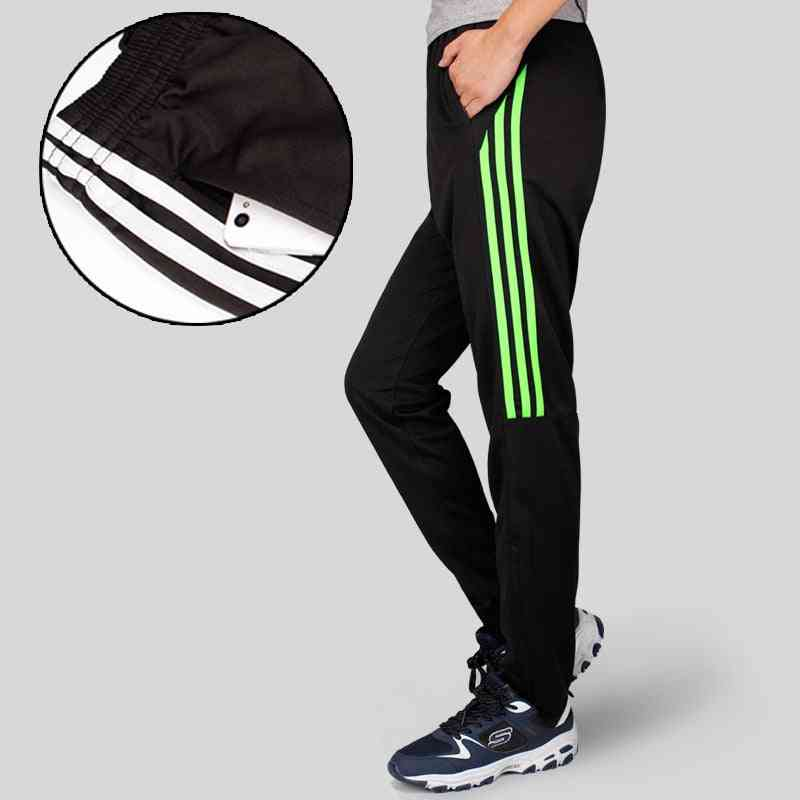 Men's Athletic Pant, Soccer Training Running Pants With Zipper Cycling