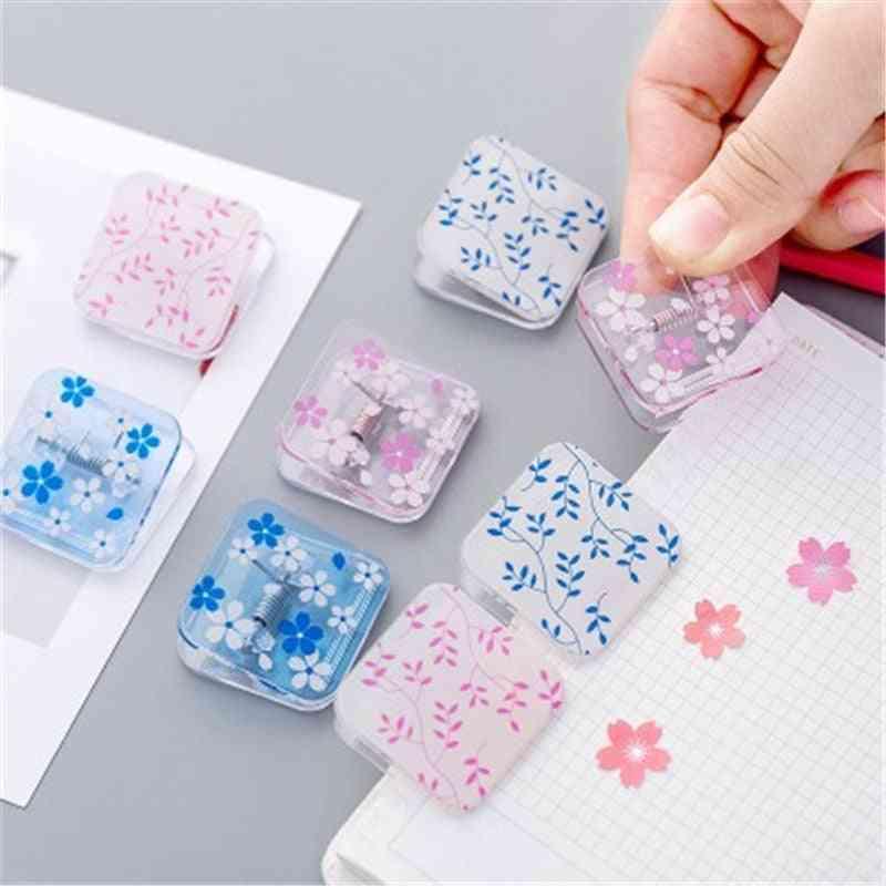 Small Fresh Flower Design Transparent Mini Clip