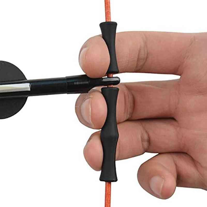 1 Set Hunting Archery Target Recurve Bowstring, Finger Guard Saver